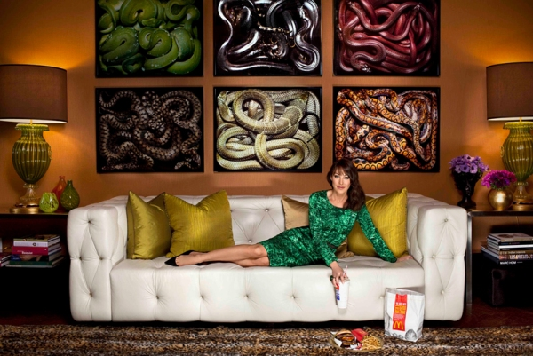 brown-living-room-snake-photo-art-white-tufted-leather-pvc-sofa-couch