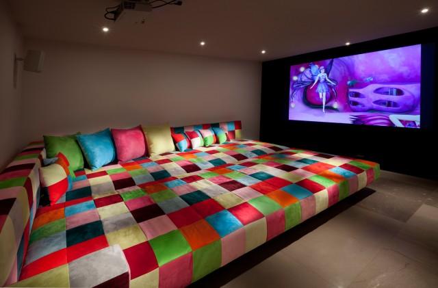 Cool home cinema bed   Interior Design Ideas